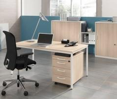 Palmberg Intro Tec bureau met rolblokken