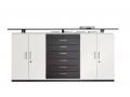 Palmberg modulekasten, decors wit en antraciet