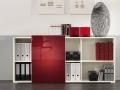 Palmberg Select open kasten - glazen fronten Rood Metallic