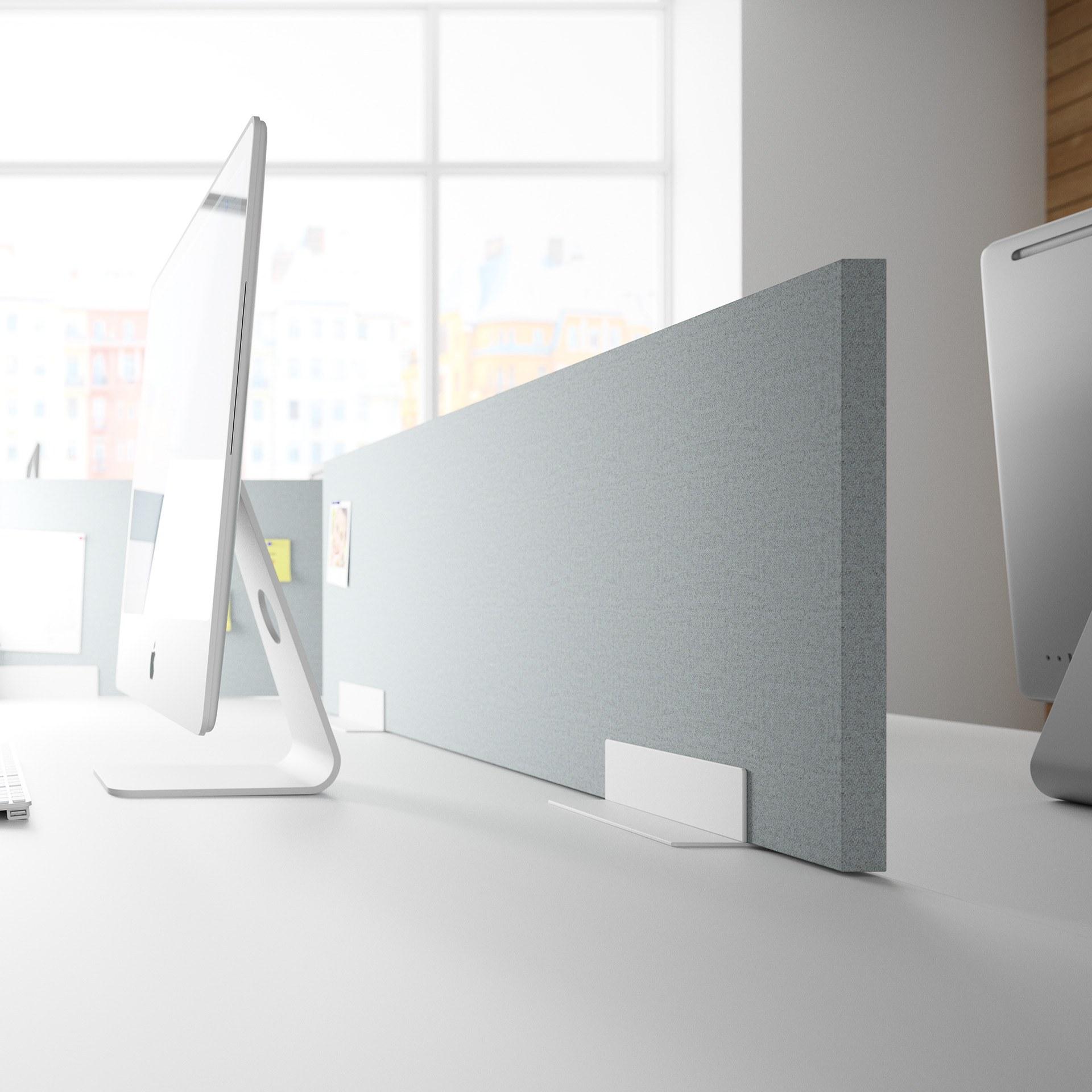 Palmberg multipaneel op bureau