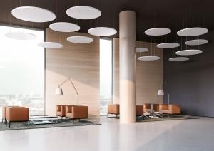 Plafondabsorbers kantoor