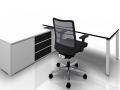 Palmberg bureauwerkplek wit en zwart