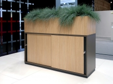 Palmberg plantenbak op kast met zwevende deuren