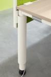 Palmberg bureau ronde poten met verticale kabelkap